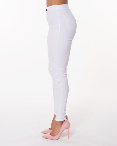 White High Waist Hyper Stretch Jeans