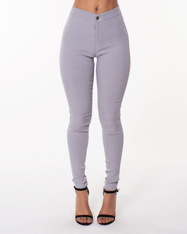 Grey High Waist Hyper Stretch Jeans