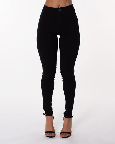 BLACK High Waist Hyper Stretch Jeans