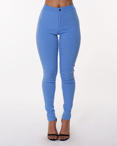 Blue Super High Waist Hyper Stretch Jeans