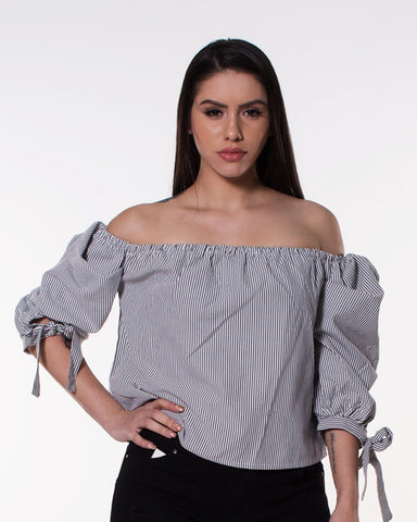 Stripe Off Shoulder Top (Available in 2 colors)