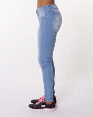 YMI Blast High Rise Skinny Jean - Light Sand - ShopVimVixen.com
