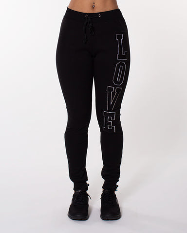 Love Vertical Fleece Jogger (Available in 5 colors)