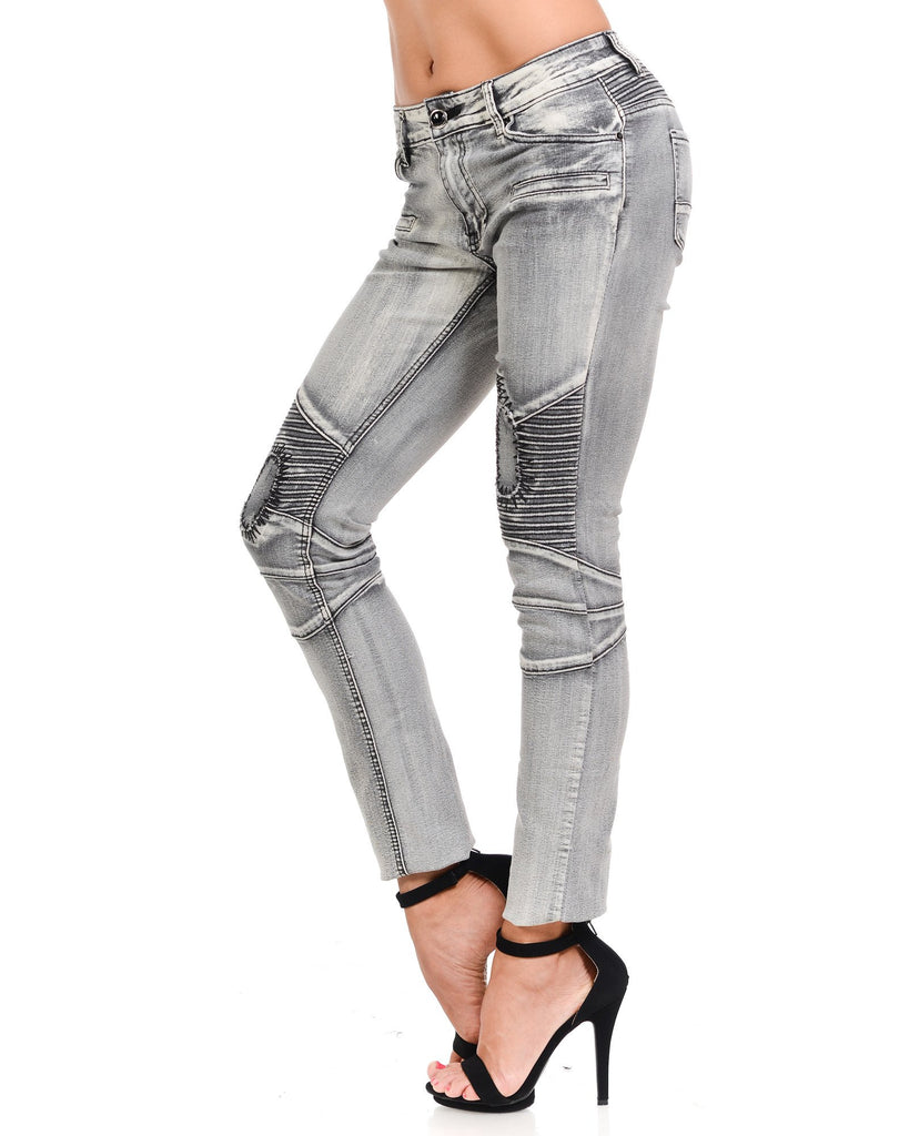 Moto Cross Mended Patch Jeans