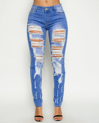Heavy Rips Stretch Jeans