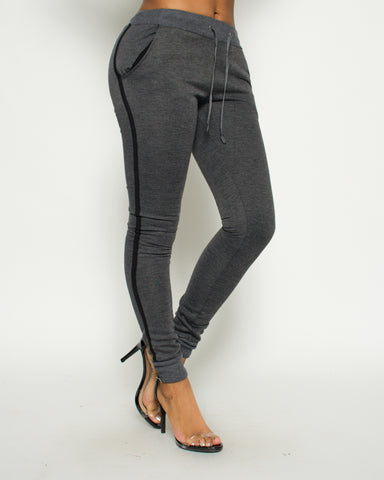 Side Stripe Design Fleece Jogger (Available in 5 colors)