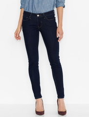 LEVI'S Juniors 535 Super Skinny Leggings Jean - Dark Blue - ShopVimVixen.com