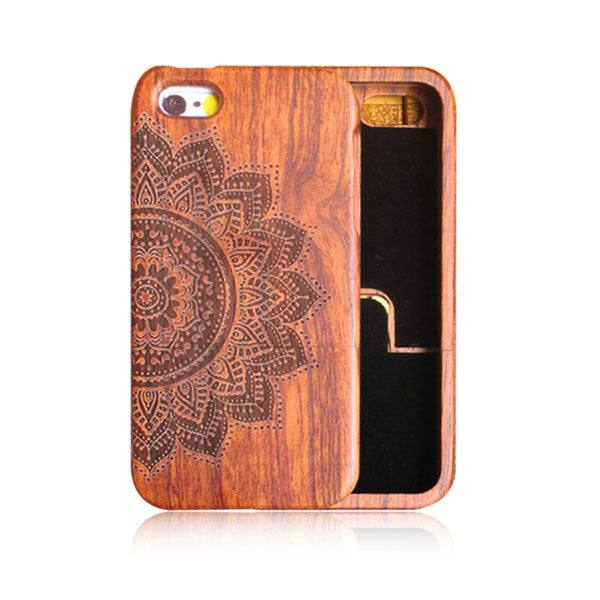 Genuine Wood Case For iPhone 7 7 Plus Cover Retro Carving Skull Embossed Wooden Phone Cases Top Quality Durable Shell Capa Funda