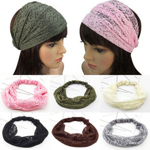 Hollow Out Lace Headband