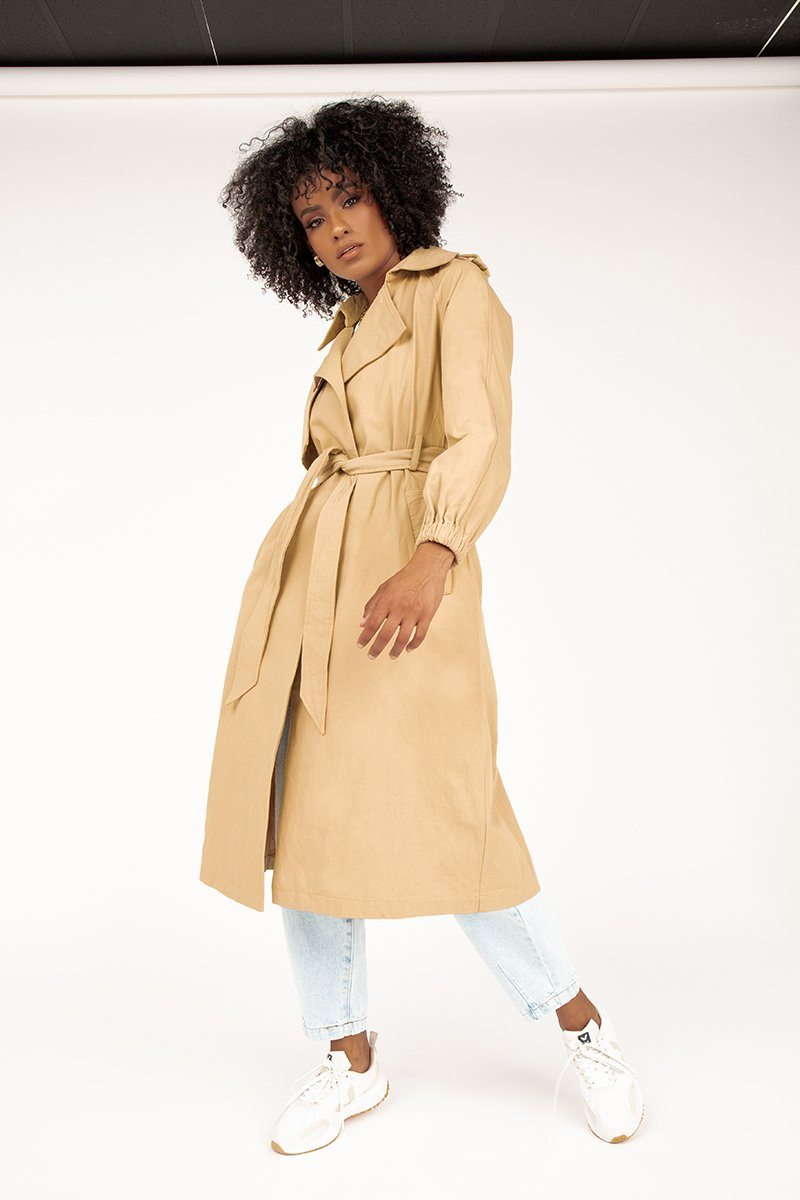 CHELSEA BEIGE TRENCH COAT Clothing DISSH Boutiques S BEIGE