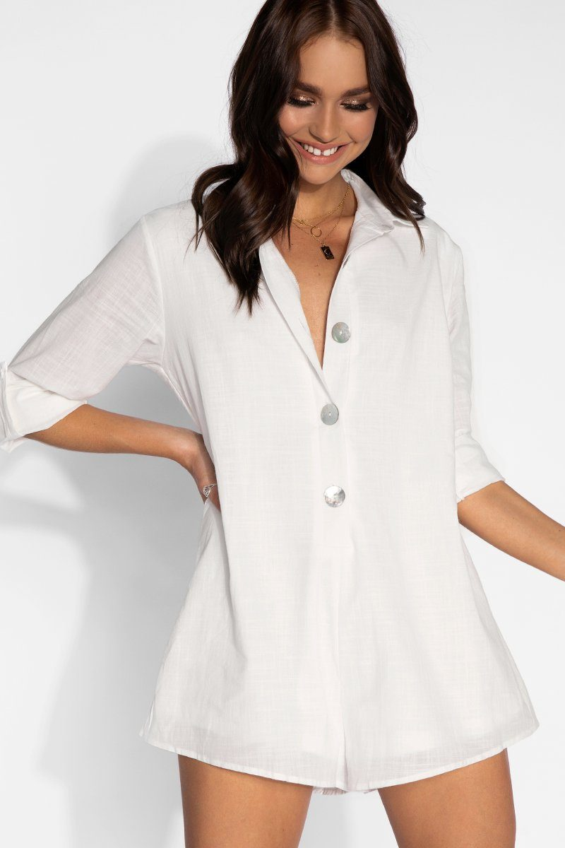 ac73970983a ON VACATION SHIRT PLAYSUIT Clothing DISSH Boutiques WHITE XS ...