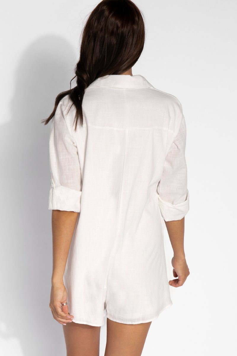 15ee6be81e0 ... ON VACATION SHIRT PLAYSUIT Clothing DISSH Boutiques. ON VACATION SHIRT  PLAYSUIT Clothing DISSH Boutiques WHITE XS