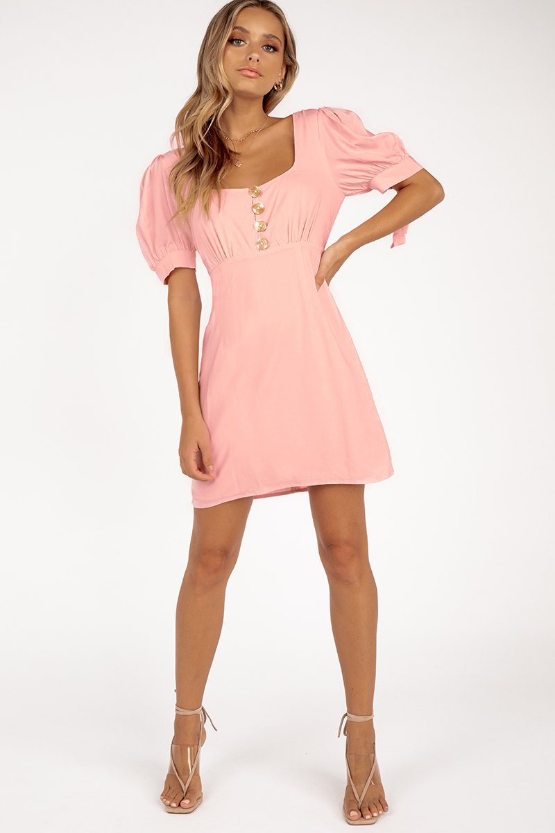 FINDERS KEEPERS FRANCIS DRESS BLUSH Clothing FINDERS KEEPERS XS LIGHT PINK