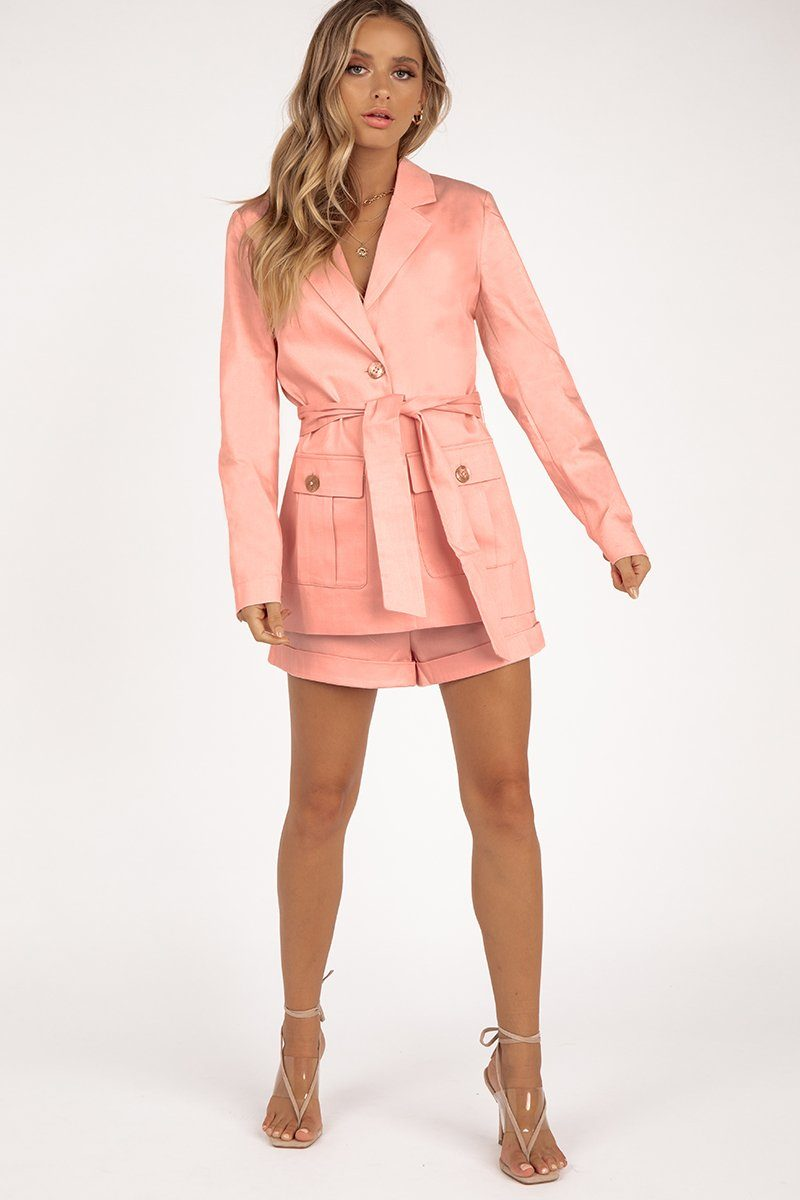 FINDERS KEEPERS VALENTINA BLAZER Clothing FINDERS KEEPERS XS LIGHT PINK