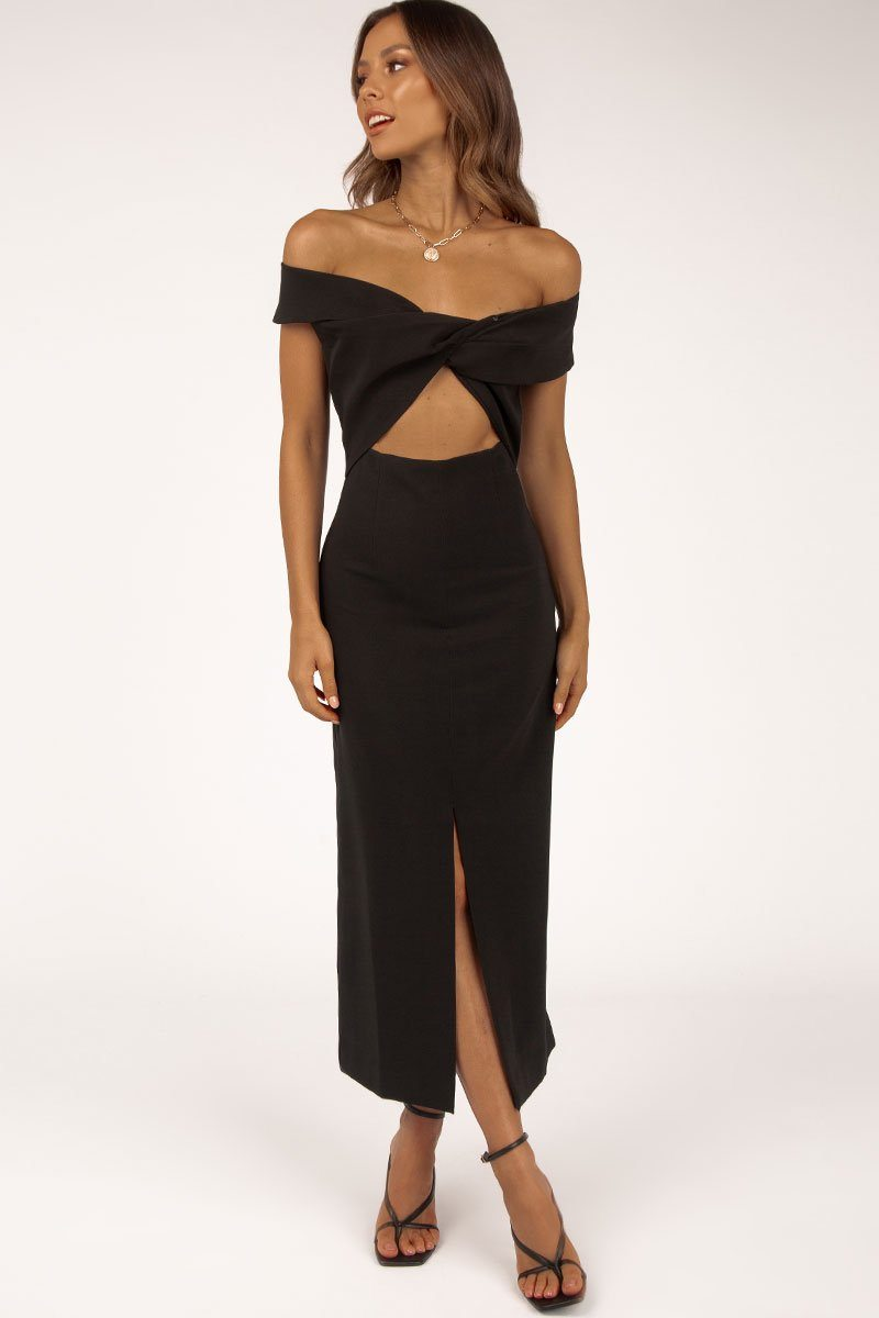 FINDERS KEEPERS MAE MIDI DRESS Clothing FINDERS KEEPERS M BLACK