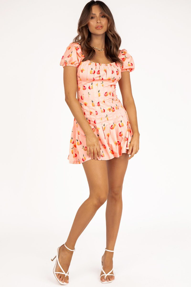 FINDERS KEEPERS TUTTI FRUTTI DRESS Clothing FINDERS KEEPERS XS PEACH