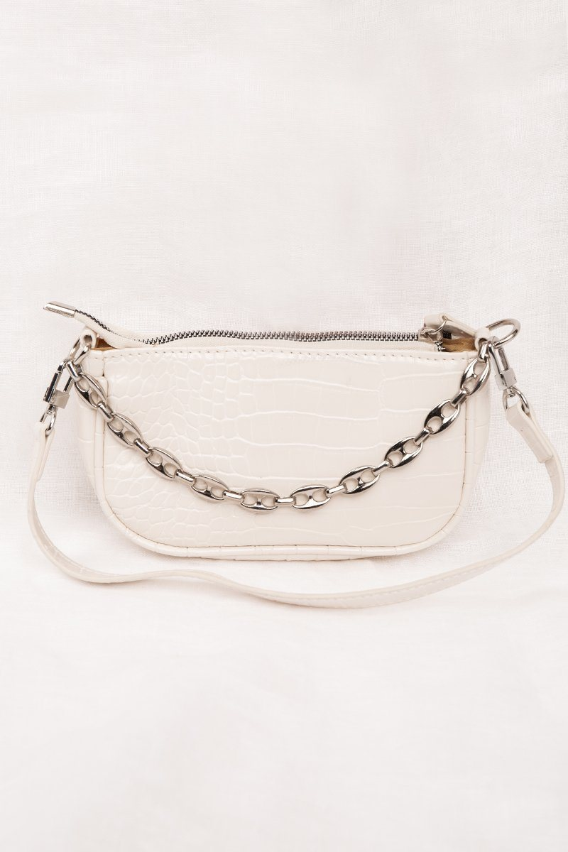 CHLOE WHITE MINI BAGUETTE BAG Accessories DISSH Boutiques O/S WHITE