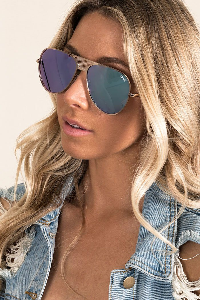 ICONIC SUNGLASSES Accessories QUAY EYEWEAR O/S GOLD