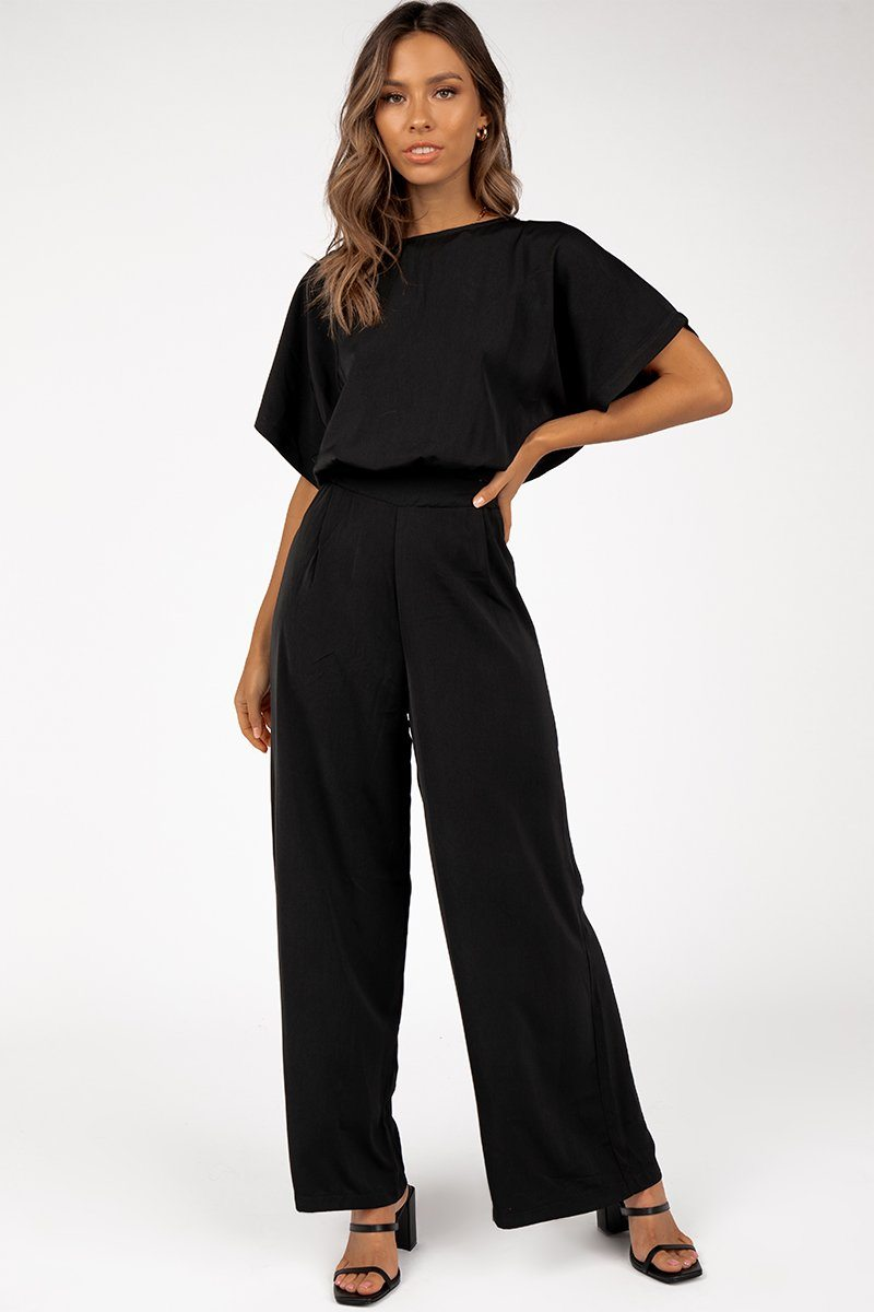LIGHTS OUT BLACK JUMPSUIT Clothing DISSH Boutiques 6 BLACK