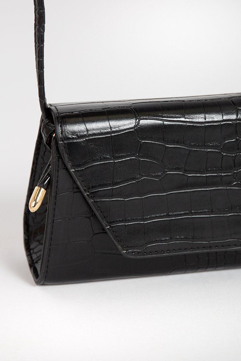PARKER BLACK CROC BAGUETTE BAG Accessories DISSH Boutiques O/S BLACK