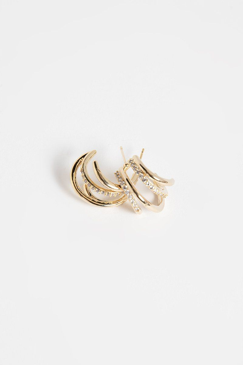 GYPSY GOLD STATEMENT EARRINGS Accessories DISSH Boutiques O/S GOLD