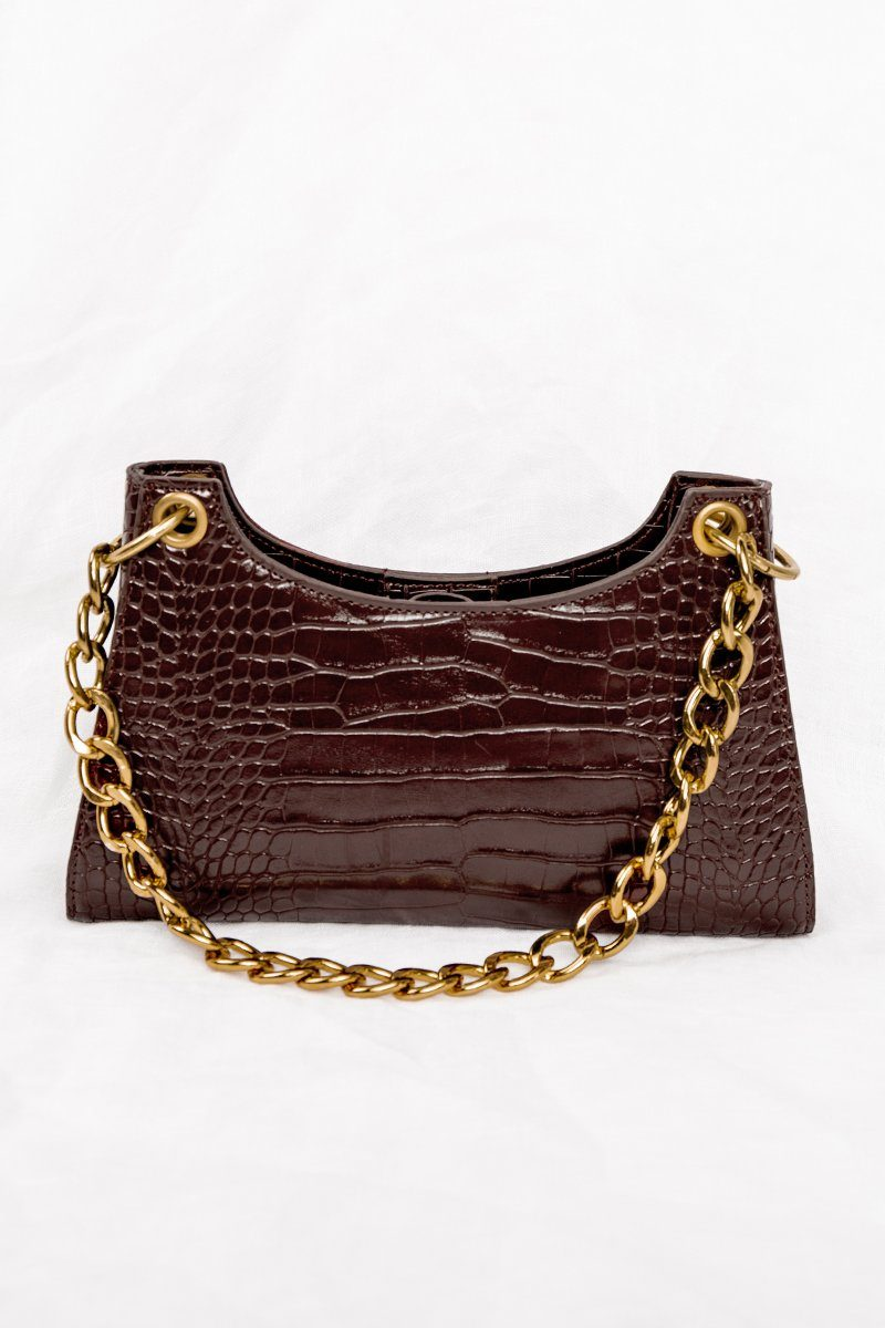 IMMY CHOCOLATE BAGUETTE BAG Accessories DISSH Boutiques O/S CHOCOLATE