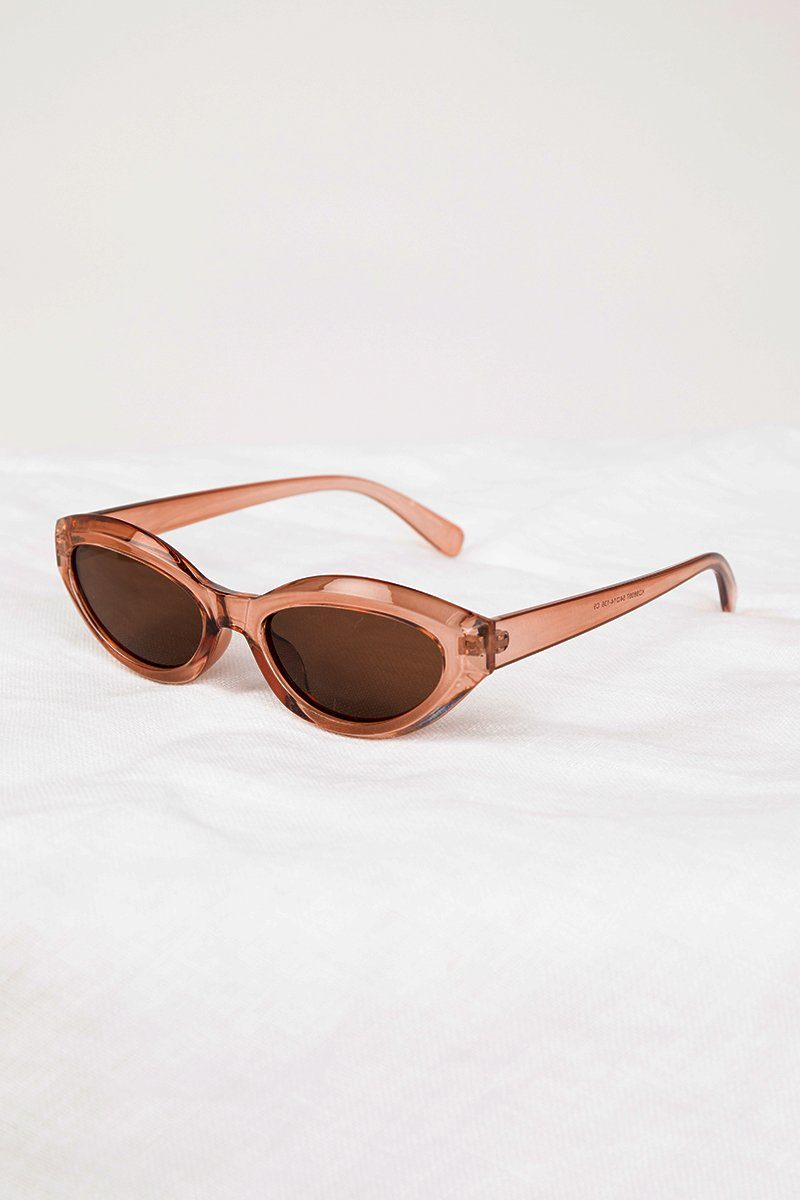 JOPLIN BROWN CAT EYE SUNGLASSES Accessories DISSH Boutiques O/S BROWN