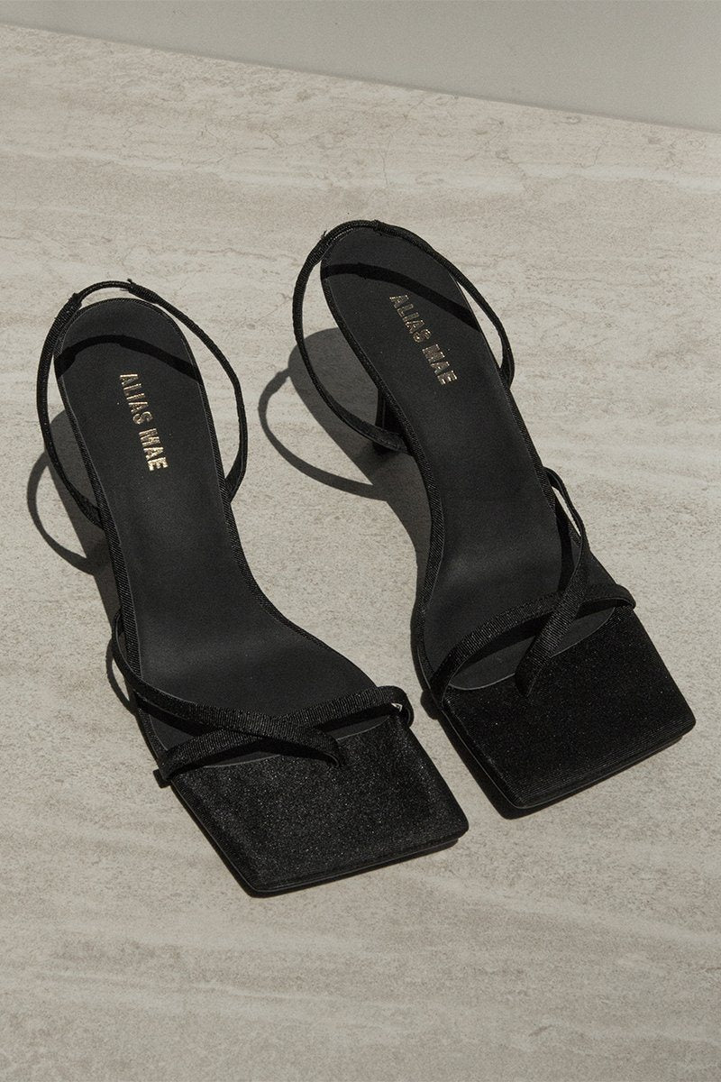 ALIAS MAE FLEUR BLACK KID LEATHER HEELS Shoes ALIAS MAE