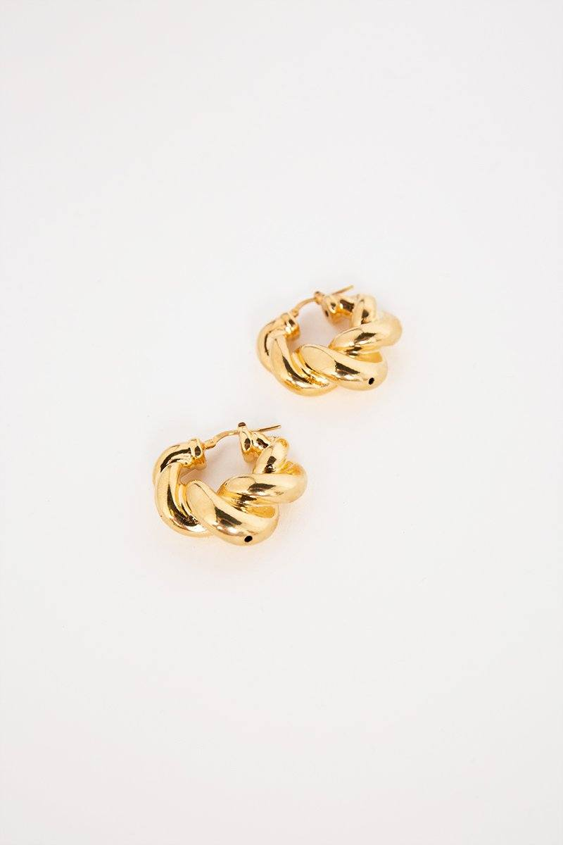 AMBER SCEATS EMILIA EARRINGS GOLD Accessories AMBER SCEATS O/S GOLD