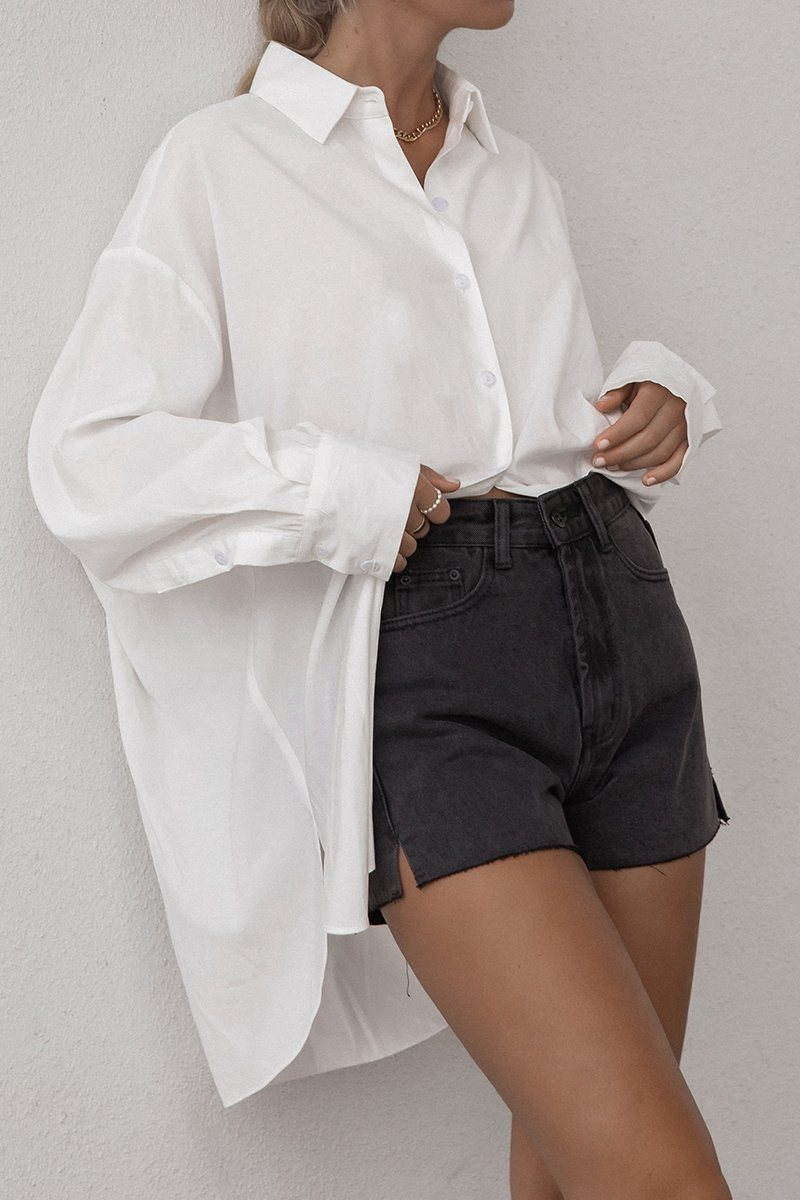 BEACHLEY WASHED BLACK DENIM SHORT Clothing DISSH Boutiques
