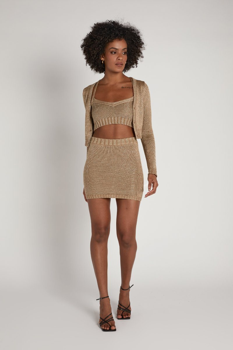 ROZALIA X ATOIR THE KNIT SKIRT Clothing ROZALIA X ATOIR XS GOLD