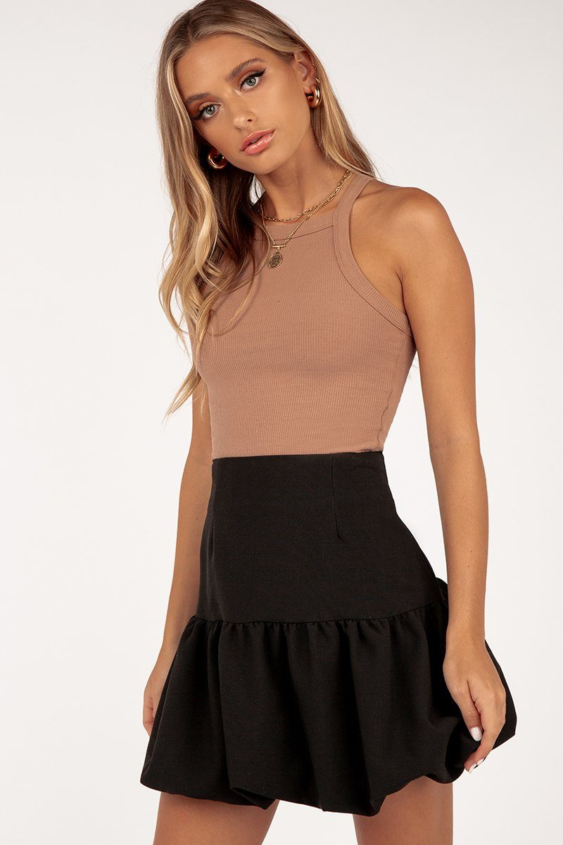 CHARLIE BLACK BUBBLE SKIRT Clothing DISSH Boutiques 8 BLACK