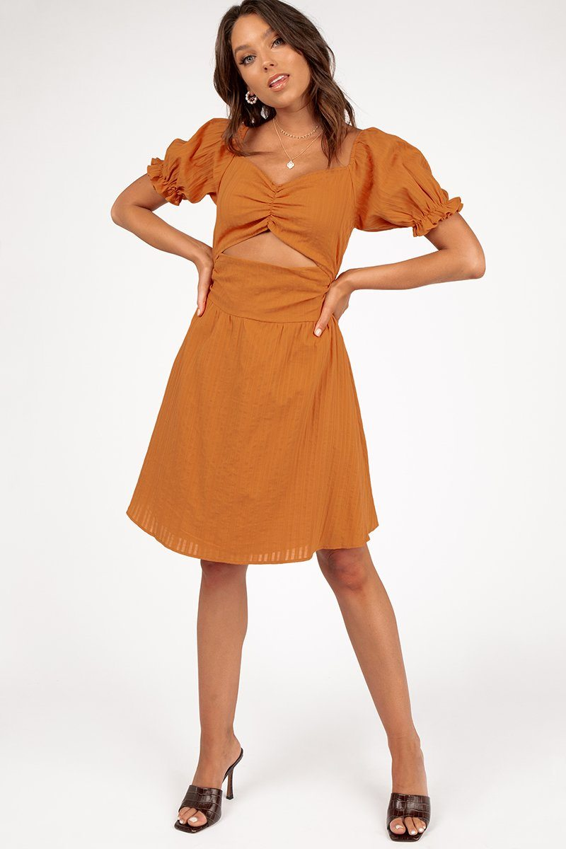 AUBREE SUMMER DRESS Clothing DISSH Boutiques 12 TANGERINE