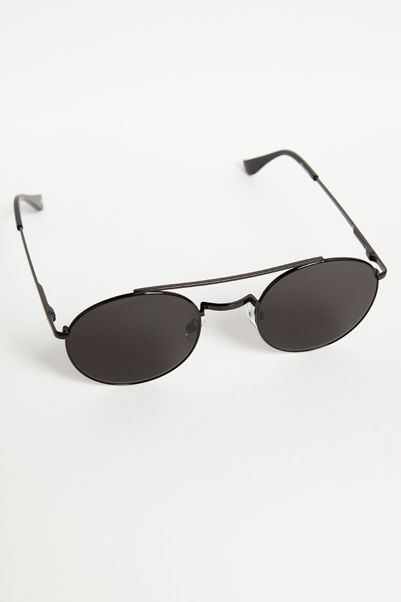 SHEVOKE DAMON JET BLACK SUNGLASSES Accessories DISSH Boutiques O/S BLACK