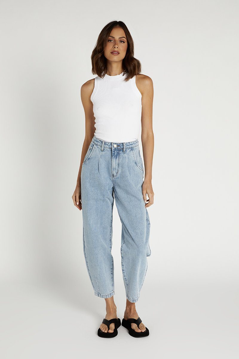 HOPE BLUE DENIM SLOUCH JEAN Clothing DISSH Boutiques 12 BLUE