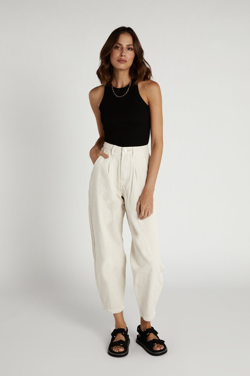 HOPE CREAM DENIM SLOUCH JEANS Clothing DISSH Boutiques