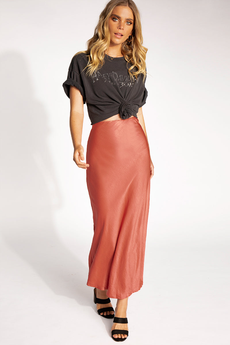d7a871548 ... LOOK AT YOU COPPER SLIP MIDI SKIRT Clothing DISSH ...