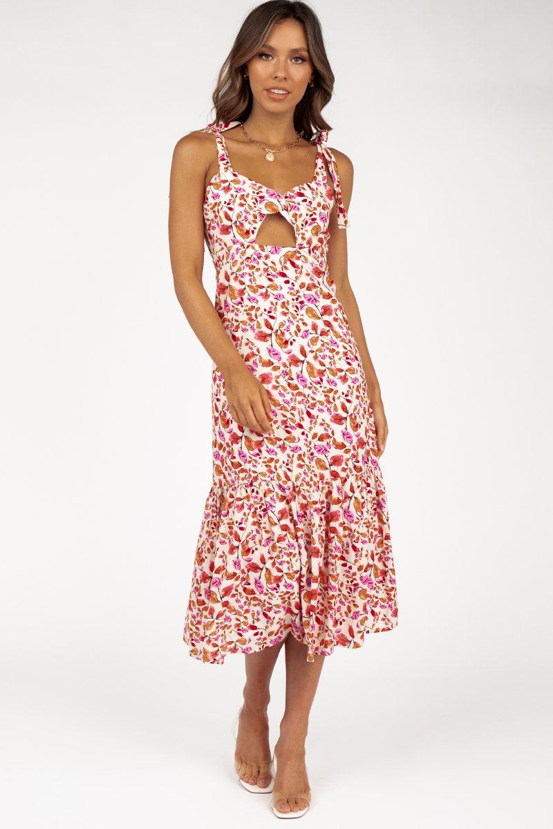 PALOMA PINK FLORAL LONG DRESS Clothing DISSH Boutiques 14 PINK