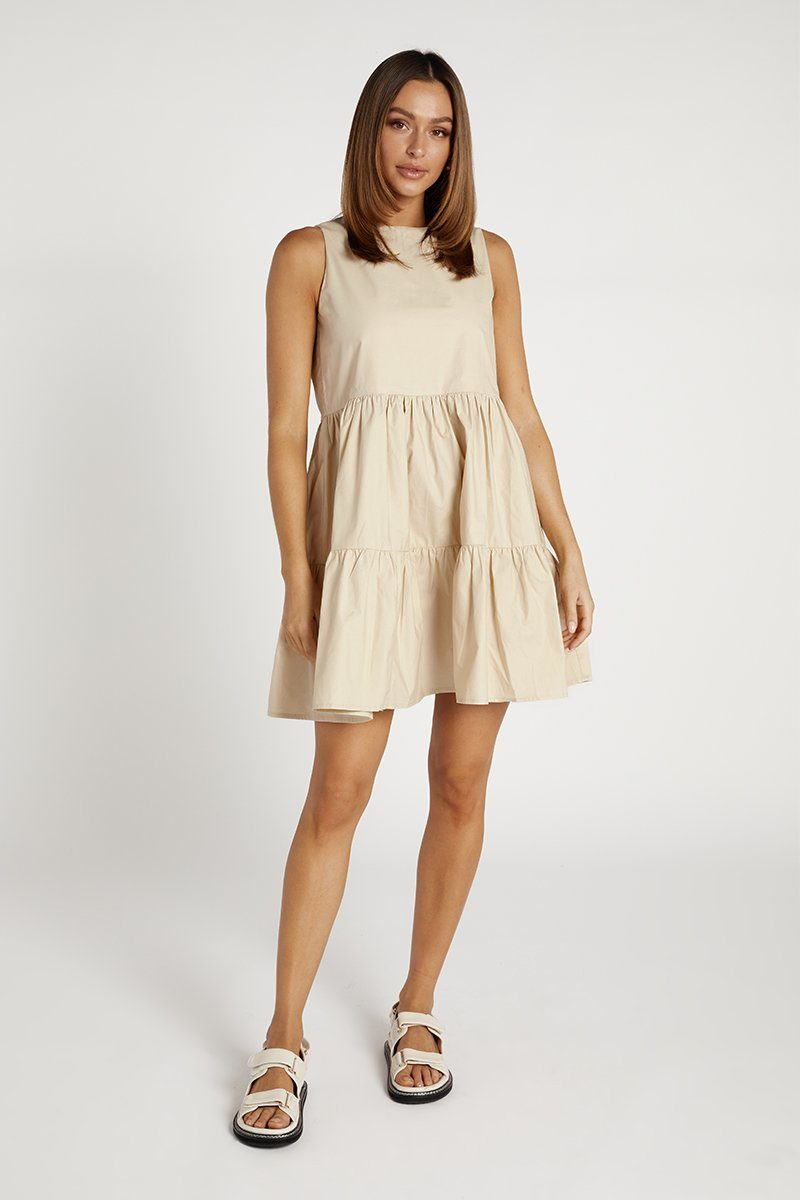 NEO VANILLA POPLIN MINI DRESS Clothing DISSH EXCLUSIVE