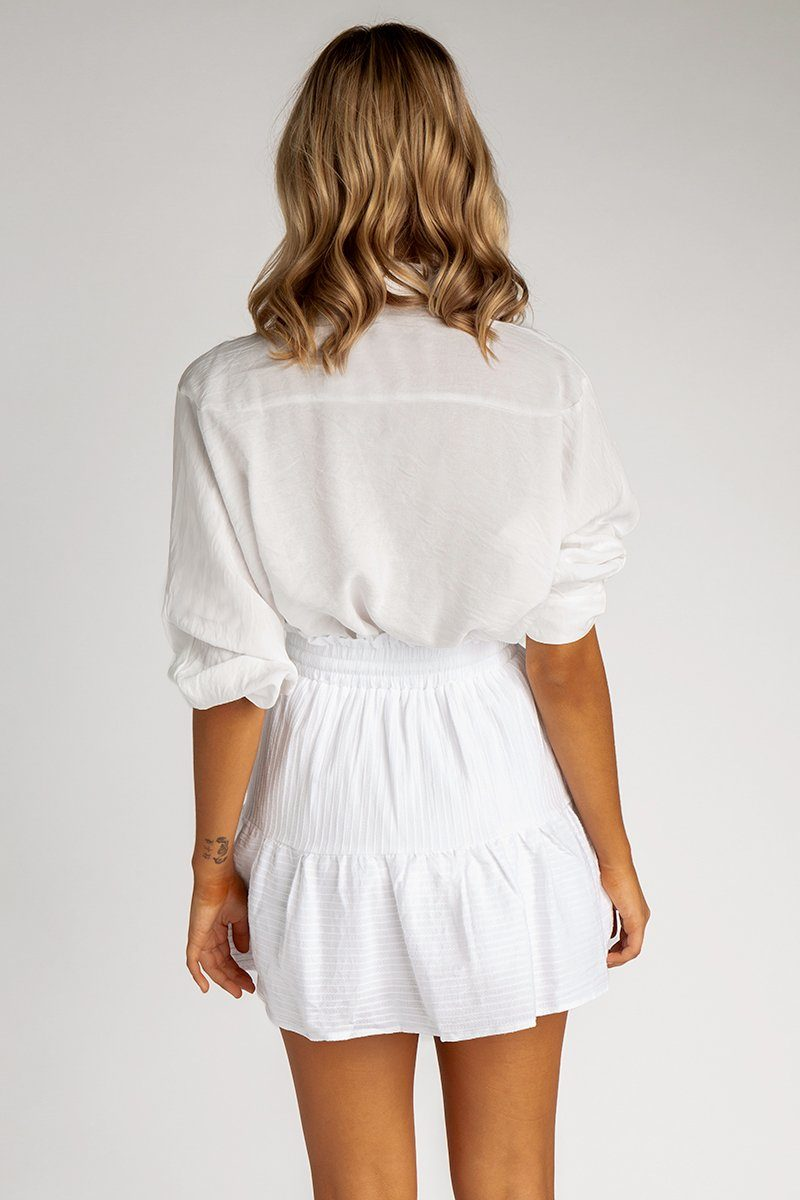 4049145ad ... ALL WE KNOW WHITE TIER MINI SKIRT Clothing DISSH EXCLUSIVE
