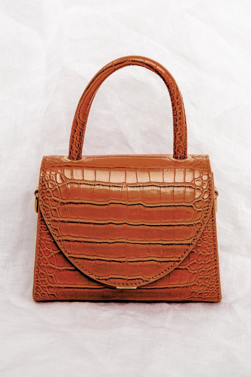 QUEEN B TERRACOTA CROC BAG Accessories DISSH Boutiques O/S TERRACOTTA