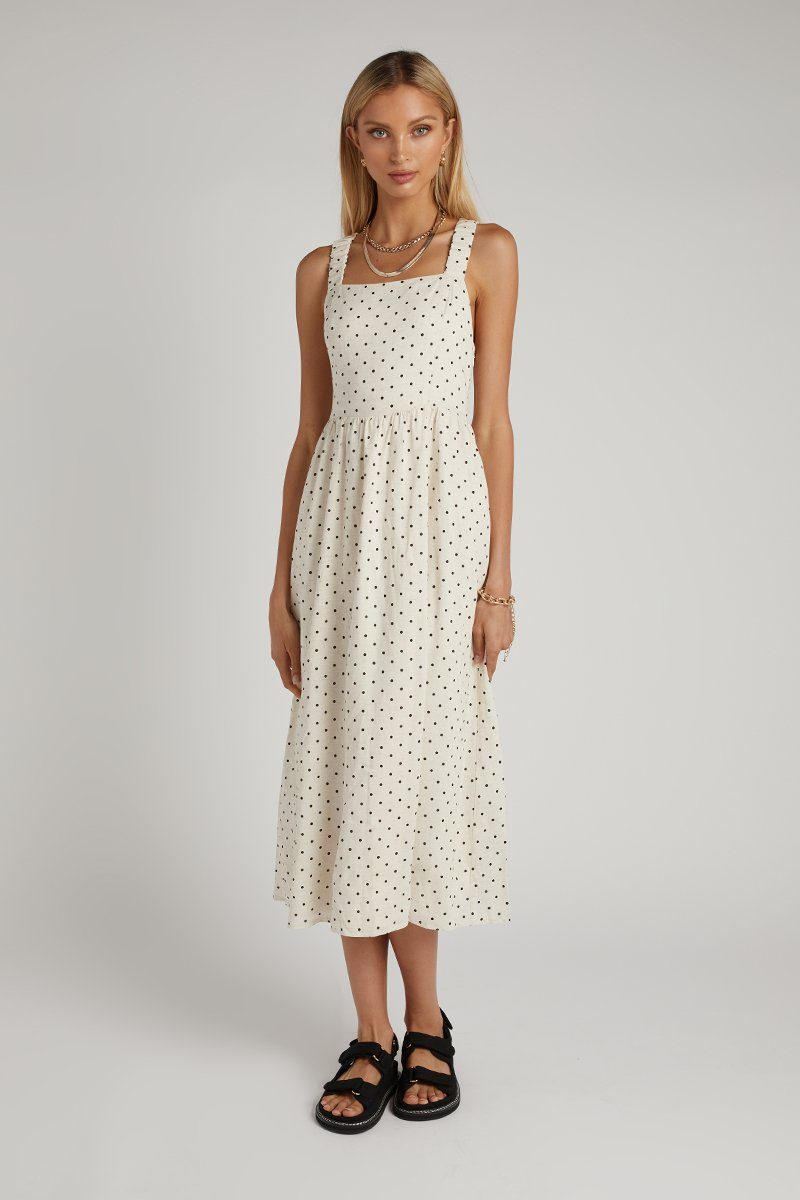 SORRENTO NATURAL SPOT MIDI DRESS Clothing DISSH Boutiques