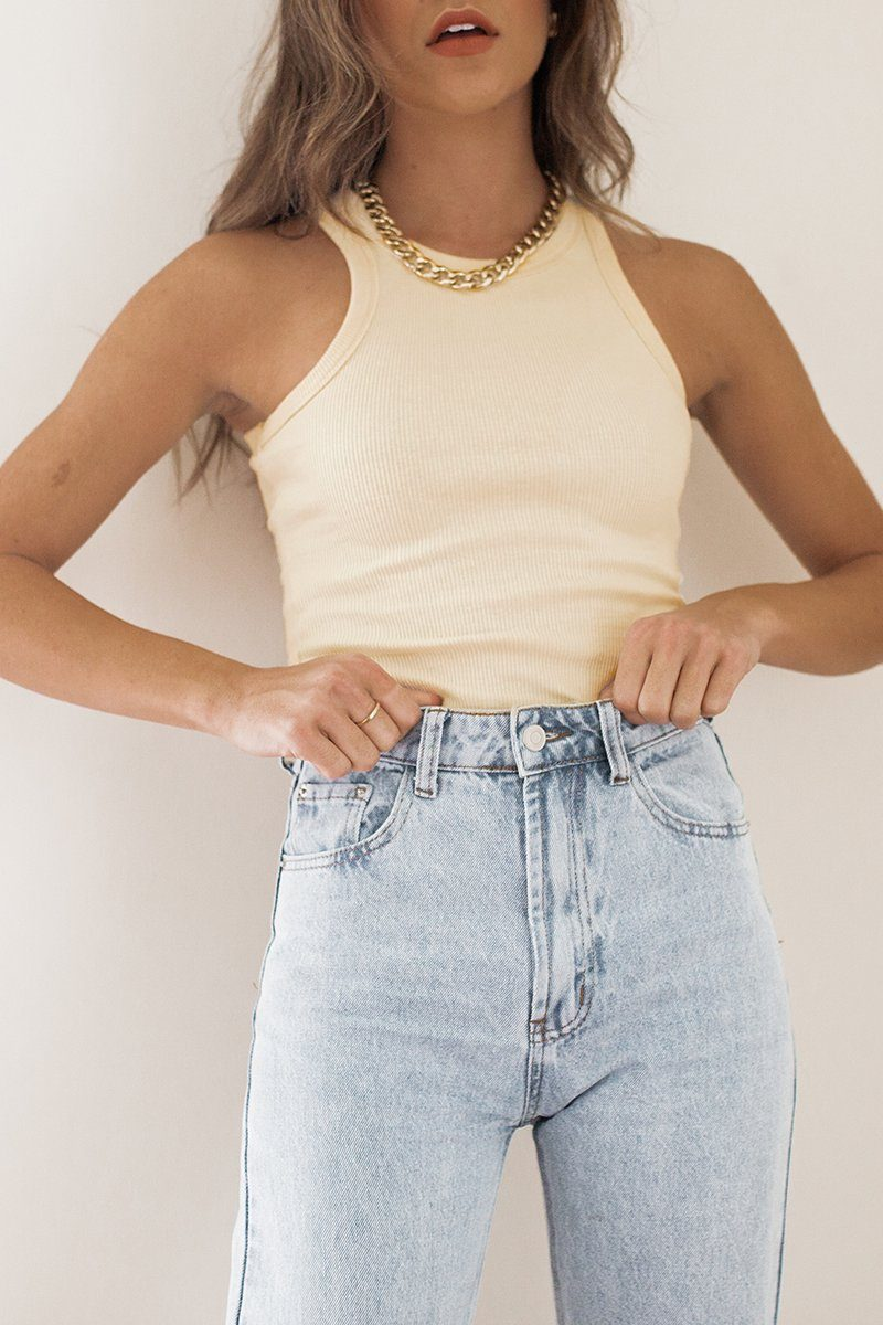 ICONIC SAND KNIT TOP Clothing DISSH Boutiques 6 SAND