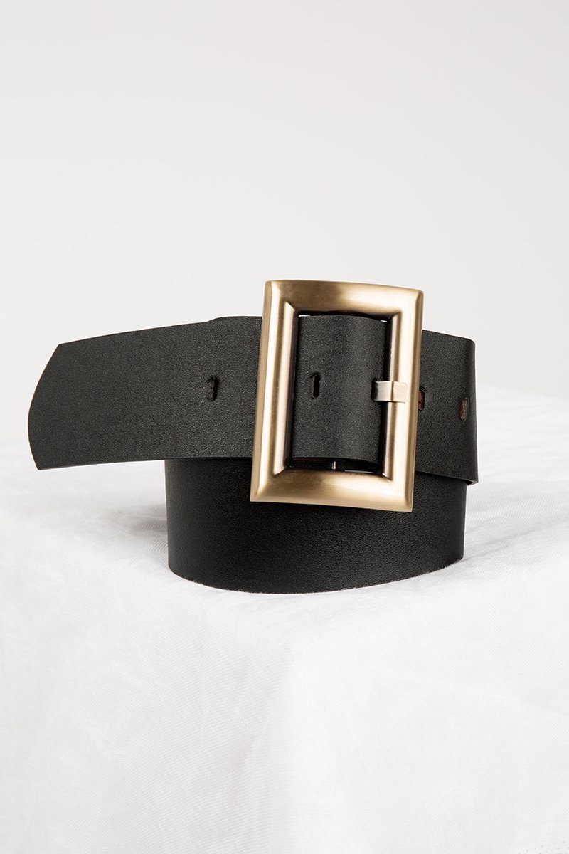 IN AND OUT BLACK STATEMENT BELT Accessories DISSH Boutiques O/S BLACK