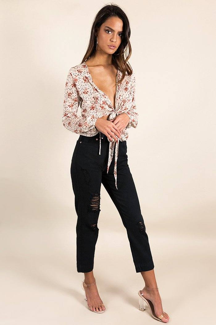 BE MY ALWAYS MOM JEANS Clothing DISSH Boutiques 12 BLACK