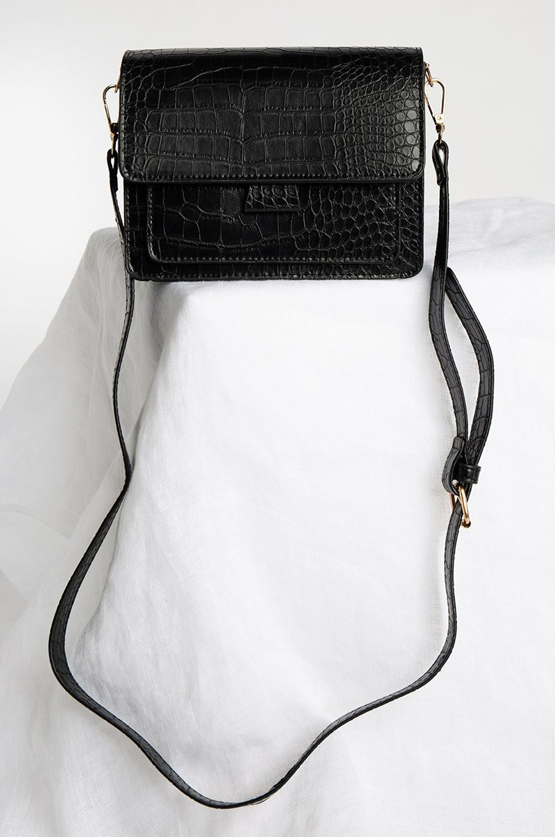 EVERYDAY BLACK CROC BAG Accessories DISSH Boutiques O/S BLACK