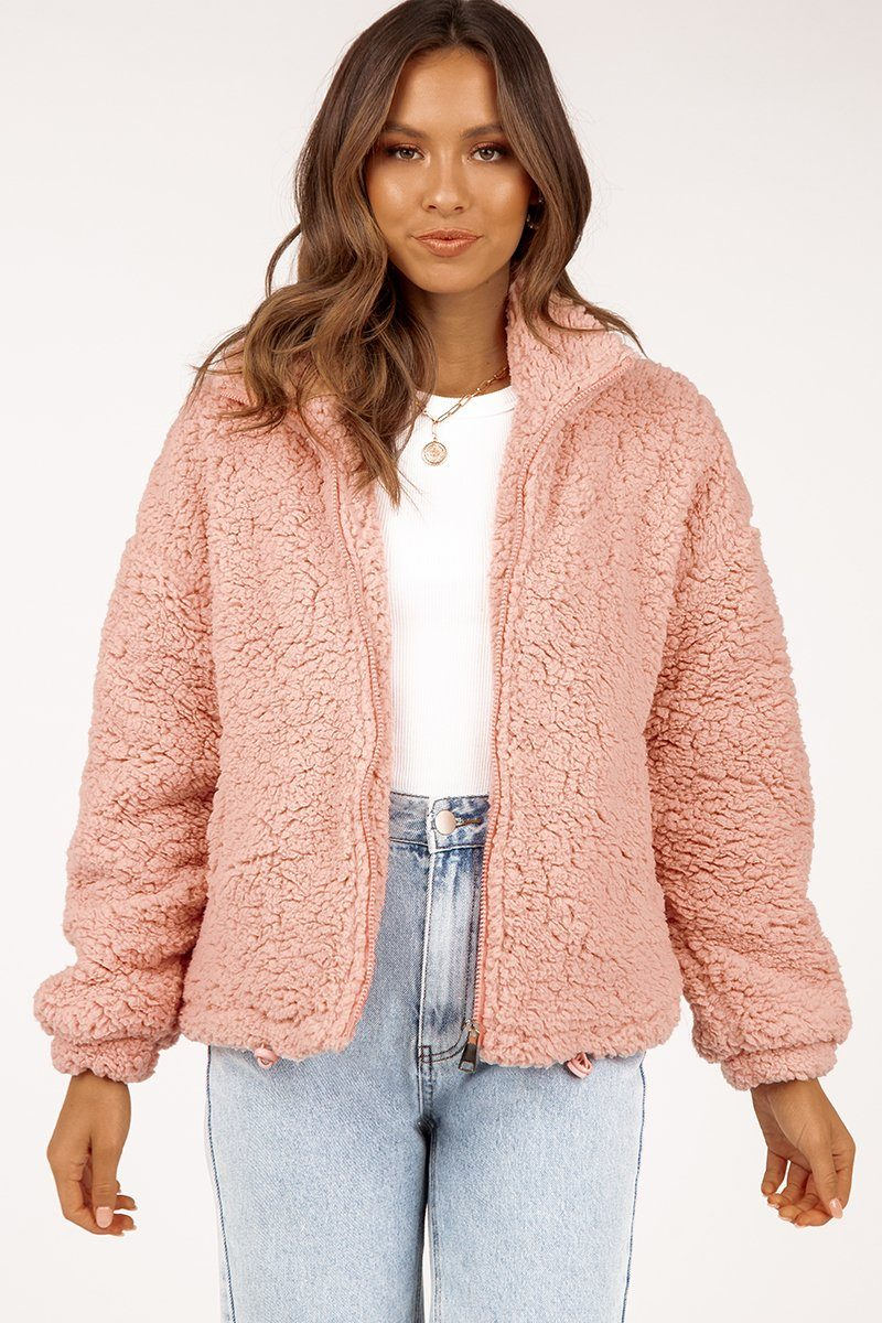 RHODES SOFT PINK TEDDY JACKET