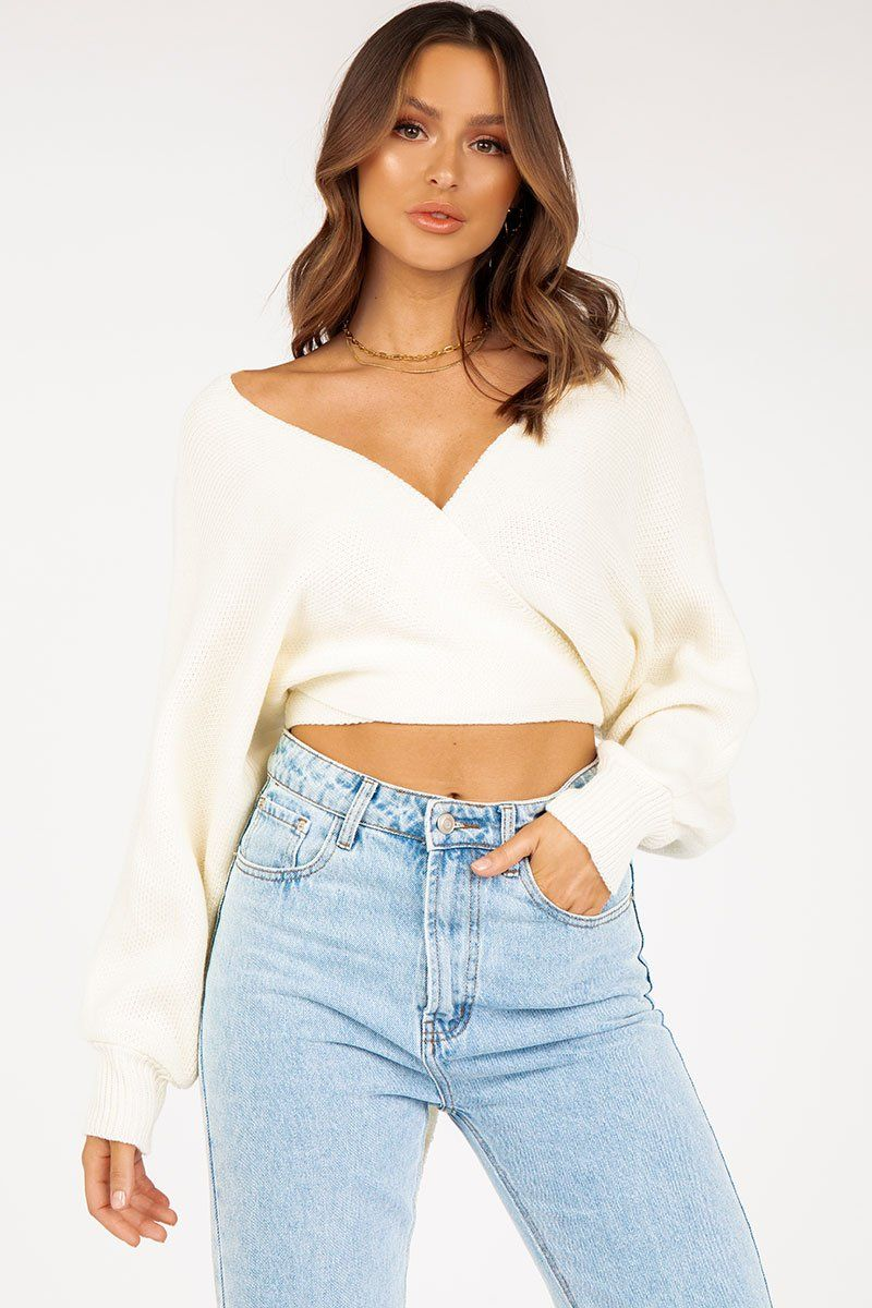 LISA WHITE OFF SHOULDER KNIT Clothing DISSH Boutiques S WHITE