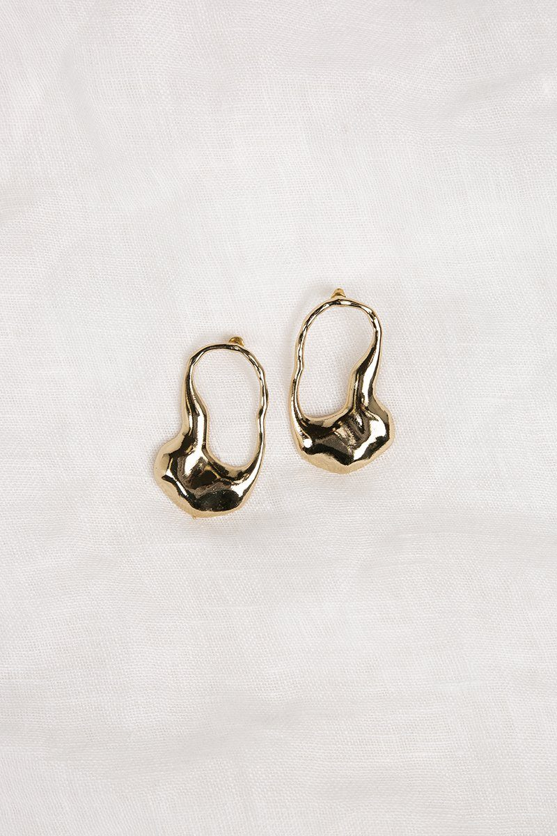 ROMEO GOLD HAMMERED EARRINGS Accessories DISSH Boutiques