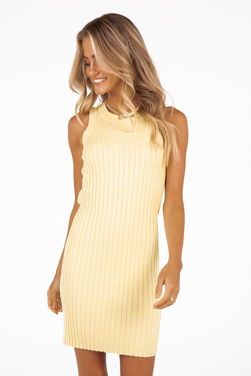 MADISON THE LABEL TAMMY MINI DRESS Clothing DISSH Boutiques XS YELLOW